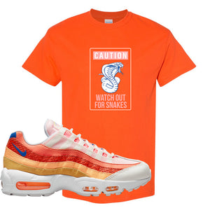 Air Max 95 Orange Snakeskin T Shirt | Caution Snakes, Orange