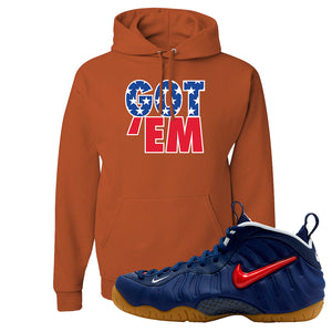 Air Foamposite Pro USA Hoodie | Texas Orange, Got Em