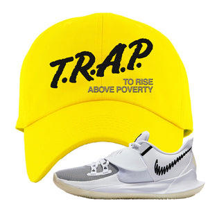 Kyrie Low 3 Dad Hat | Yellow, Trap To Rise Above Poverty