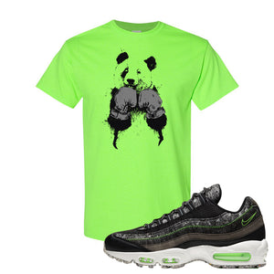 Air Max 95 Black / Electric Green T Shirt | Boxing Panda, Neon Green