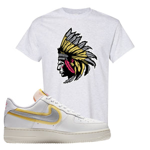Air Force 1 Low 07 LX White Gold T Shirt | Indian Chief, Ash