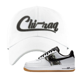 Air Force 1 Low Camo Dad Hat | Chiraq, White