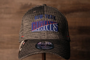 Giants 2020 Training Camp Flexfit | New York Giants 2020 On-Field Grey Training Camp Stretch Fit the front of this cap has the name giants and the city