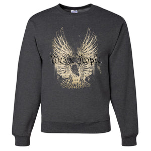Standard Issue We The People Bald Eagle Gray Grunt Life Crewneck Sweater