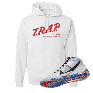 KD 13 Home Hoodie | White, Trap To Rise Above Poverty