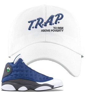 Jordan 13 Flint 2020 Sneaker White Dad Hat | Hat to match Nike Air Jordan 13 Flint 2020 Shoes | Trap To Rise