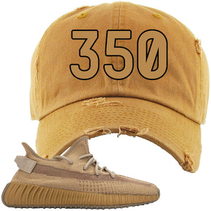 Yeezy Boost 350 V2 Earth Sneaker Distressed Dad Hat To Match | 350, Timberland