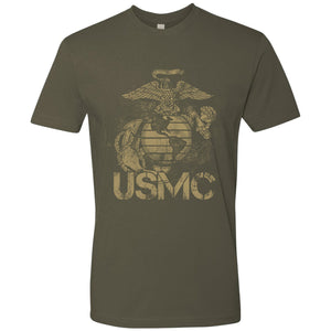 Standard Issue Distressed USMC Military Green Grunt Life T-Shirt