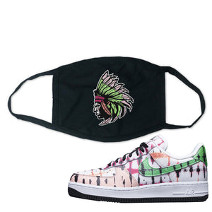 Air Force 1 Low Multi-Colored Tie-Dye Face Mask | Black, Indian Chief