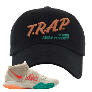 Kyrie 6 N7 Dad Hat | Black, Trap To Rise Above Poverty