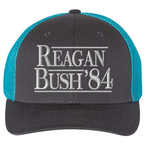 Embrace the Grunt Life and your inner Grunt Style with this patriotic united states of america military inspired mesh-back Reagan Bush 1984 conservative campaign hat