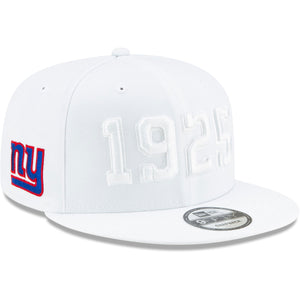New York Giants New Era 2019 NFL On Field Sideline Color Rush 9FIFTY Adjustable White Snapback Hat