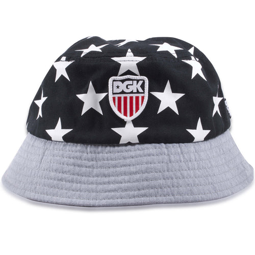 DGK Stars and Stripes Americana Black and White Bucket Hat