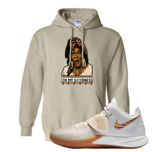 Kyrie Flytrap 3 Summit White Hoodie | Oh My Goodness, Sand