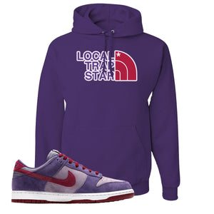 Dunk Low Plum Sneaker Deep Purple Pullover Hoodie | Hoodie to match Nike Dunk Low Plum Shoes | Local Trap Star