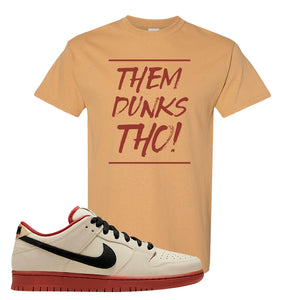SB Dunk Low Muslin T Shirt | Them Dunks Tho, Old Gold