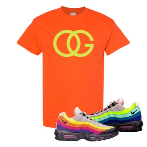 Airmax 95 '20 For 20' Sneaker Orange T Shirt | Tees to match Nike Airmax 95 '20 For 20' Shoes | OG