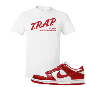 SB Dunk Low St. Johns T Shirt | Trap To Rise Above Poverty, White