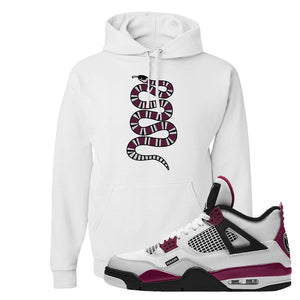 Air Jordan 4 PSG Paname Pullover Hoodie | Coiled Snake, White
