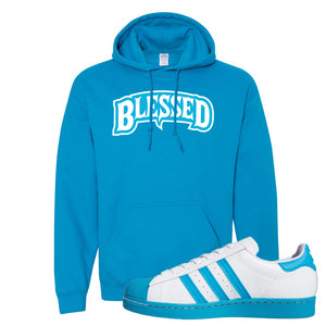 Adidas Superstar 'Aqua Toe' Hoodie | Sapphire, Blessed Arch