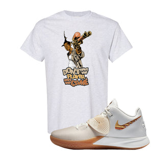 Kyrie Flytrap 3 Summit White T Shirt | Don't Hate The Playa, Ash