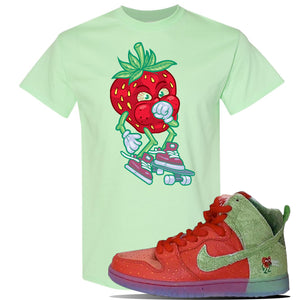 SB Dunk High 'Strawberry Cough' T Shirt | Mint Green, Coughing Berry