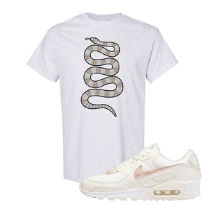 Air Max 90 Beige Snakeskin T Shirt | Coiled Snake, Ash