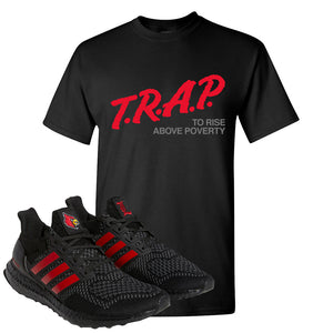 Ultra Boost 1.0 Louisville T Shirt | Trap To Rise Above Poverty, Black