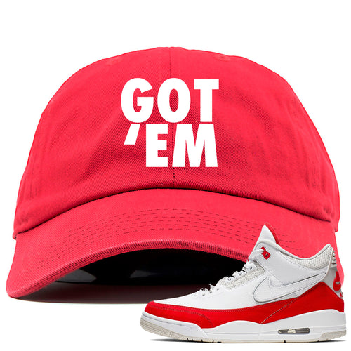 df6841bc7e9 This red dad hat will match great with your Jordan 3 Tinker Air Max shoes