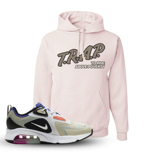 Air Max 200 WMNS Fossil Sneaker Classic Pink Pullover Hoodie | Hoodie to match Nike Air Max 200 WMNS Fossil Shoes | Trap To Rise Above Poverty