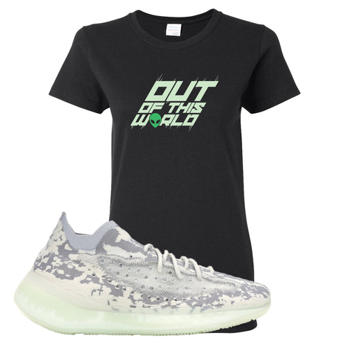 Yeezy Boost 380 Alien Outta This World Black Sneaker Matching Women's T-Shirt