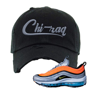 Air Max Plus Sky Nike Distressed Dad Hat | Black, Chiraq