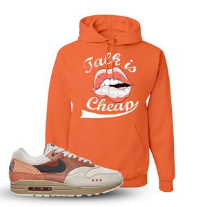Air Max 1 Amsterdam City Pack Sneaker Retro Heather Coral Pullover Hoodie | Hoodie to match Nike Air Max 1 Amsterdam City Pack Shoes | Talk Is Cheap