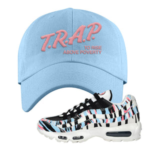 Air Max 95 Korea Tiger Stripe Dad Hat | Light Blue, Trap To Rise Above Poverty
