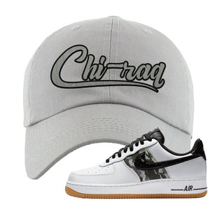 Air Force 1 Low Camo Dad Hat | Chiraq, Light Gray