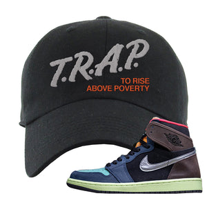 Air Jordan 1 Retro High OG 'Bio Hack' Dad Hat | Black, Trap To Rise Above Poverty