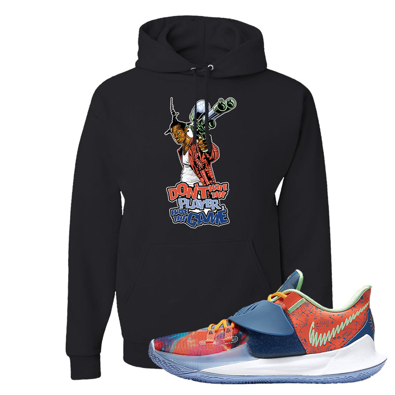 Kyrie Low 3 Ancient Symbols Hoodie | Don't Hate The Playa, Black