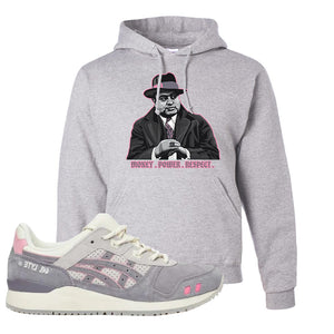 END x Asics Gel-Lyte III Grey And Pink Hoodie | Capone Illustration, Ash