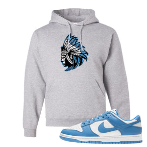 SB Dunk Low University Blue Hoodie | Indian Chief, Ash