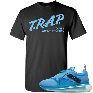 Air Max 720 OBJ Slip Light Blue T Shirt | Black, Trap To Rise Above Poverty