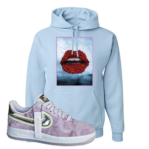 Air Force 1 P[her]spective Hoodie | Light Blue, Rose Lips