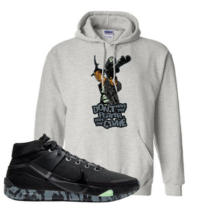 Nike KD 13 Black And Dark Grey Pullover Hoodie | Dont Hate The Playa, Ash