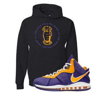 Lebron 8 Lakers Hoodie | Cash Rules Everything Around Me, Black