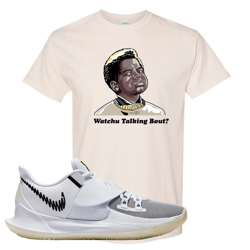 Kyrie Low 3 T Shirt | Natural, Watchu Talking Bout