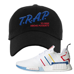 NMD R1 Olympic Pack Dad Hat | Black, Trap To Rise Above Poverty