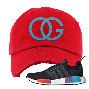 NMD R1 Gradient Distressed Dad Hat | Red, OG