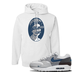 Air Max 1 'London City Pack' Sneaker White Pullover Hoodie | Hoodie to match Nike Air Max 1 'London City Pack' Shoes | God Save The Queen