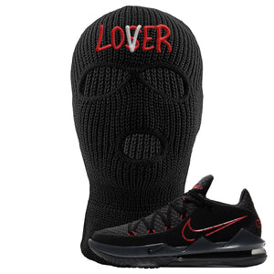 LeBron 17 Low Bred Sneaker Black Ski Mask | Winter Mask to match Nike LeBron 17 Low Bred Shoes | Lover