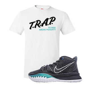 Kyrie 7 Pre Heat T-Shirt | Trap To Rise Above Poverty, White