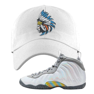 Lil Posite One Rainbow Pixel Dad Hat | White, Indian Chief